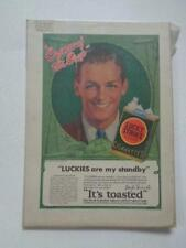 Lot Of 3 Vintage Cigarette Magazine Ads Lucky Strike Philip Morris Chesterfield