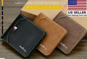 Men Wallets/ Leather trifold wallet,ID Card Holder Purse Clutch Billfold Wallets