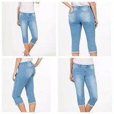 5b4f7c1e7e Royalty For Me Womens Jeans Size 16 Mid-Rise Crops Double Rolled Cuff  Stretch