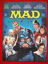 MAD MAGAZINE #191 ~ MAR 1978 ~ STAR WARS ~DON MARTIN HUMOUR~SPOOF~PARODY~POLITIC