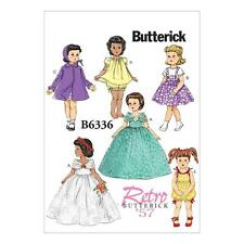 """BUTTERICK  SEWING PATTERN RETRO VINTAGE 1957 18"""" DOLL CLOTHES DRESS COAT B6336"""