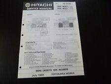 Original Service Manual Schaltplan Hitachi TRK-WP7 TRK-W27