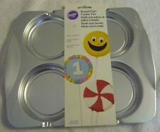 Wilton Round Pops Cookie Novelty Shaped Baking Pan Mold #2105-0536 makes 4