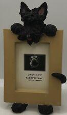 Black Scottie Dog Scottish Terrier Picture Photo Frame New ADORABLE