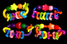 Set of 6 - 1-3/4'' Plastic link with wiggles Bird Toys - Foot Toys