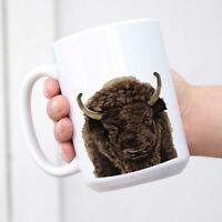 Cute Animal American Buffalo Bison Ceramic Coffee Mug Tea Cup