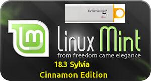 Linux Mint 18.3 Sylvia LTS Cinnamon on 8Gb USB Stick 64bit Replace Windows