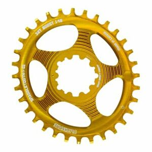 Chainring Snaggletooth Oval Direct Mount Sram Gxp Boost Gold Blackspire MTB