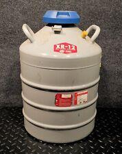 Union Carbide Linde Xr 12 Liquid Nitrogen Cryogenics Dewar With Lid