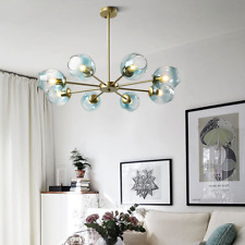 Glass Globe 8-Light Pendant Lamp Ceiling Fixtures Home Lighing Chandeliers