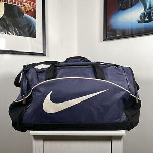 NIKE Gym Training Kit Overnight Weekend Travel Large Holdall Duffle Bag - Blue
