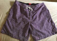 NWOT Men's XXL Saks 5th Ave Swim Trunks Suit Shorts Purple Tribal Geometric Prnt