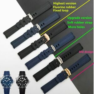 20mm Silicone Rubber Arenaceous Watchband Strap Fit For Omega Seamaster 300
