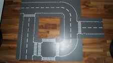 9 Lego City Straßenplatten, verschiedene Motive, grau Legoplatten