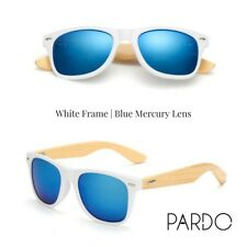 Original Pardo Hybrid Bamboo Sunglasses for Men and Women (White Frame)