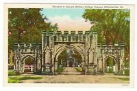 Vintage Postcard Georgia Military College Milledgeville GA Campus Entrance