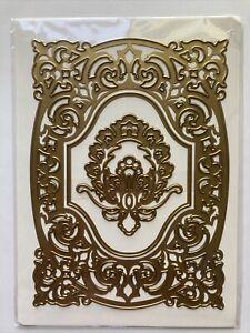 "Anna Griffin 5 x 7"" Card Frame Flourish Embossing Stencil Cutting Dies"