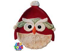 Novelty Festive Xmas Christmas Owl Design Cake Plate Dish Spoon Rest - Large