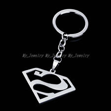 Stainless Steel Superman Silver Avengers Comics Key Ring Keychain Keyfob Keyring