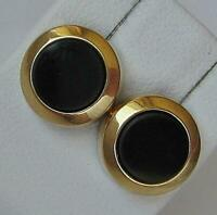 1 Paar Ohrstecker Ohrringe mit Onyx in aus 8 Kt. 333 Gold earrings