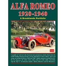 Alfa Romeo 1920-1940 A Brooklands cartera libro de papel coche