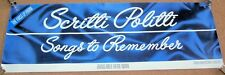 "SCRITTI POLITTI REC COM PROMO POSTER-BANNER ""SONGS TO REMEMBER"" DEBUT ALBUM 1982"