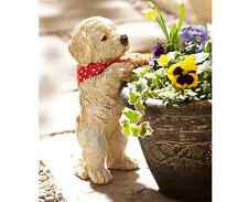 PEEPING Cucciolo Giardino Ornamento Decorazione vegetale POT DECOR Outdoor Weatherproof