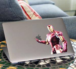 "Iron Man Avengers MacBook Sticker Decal Air/Pro 13""15""17-ALL MODELS 2006-Current"
