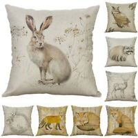Animal Cotton Linen Decor Home Retro Throw Pillow Case 18'' Cushion Cover