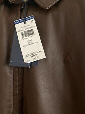 Polo Ralph Lauren Maxwell Leather Jacket, Bison Brown BNWT RRP £449.99 Large