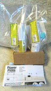 Power Floss Dental Water Jet Air Powered Flosser Teeth Cleaner,Set of 2, NEW