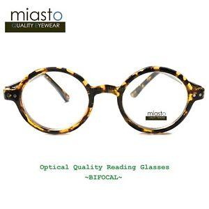 NWT$39.99 MIASTO ROUND LENNON/ POTTER SMALL READER READING GLASSES+2.50 BIFOCAL