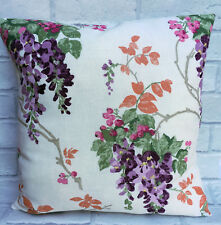 "Laura Ashley Wisteria Grape Floral Cushion Cover 16"" or 18"""