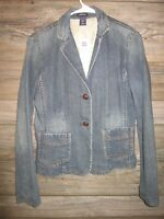 GAP Women's Size 10 Medium Wash 2 Button Stretch Denim Jacket