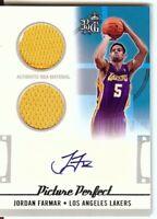 Jordan Farmar 2006-07 Topps Big Game Picture Perfect 2x Jersey/Auto  #JF 177/199
