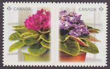 CANADA 2010 #2378i African Violets - die cut se-tenant pair - Value $5.00
