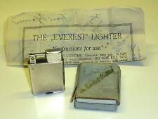 """EVEREST LIFTARM LIGHTER """"E.P.N.S"""" W. ORIGINAL INSTRUCTION - OVP - 1933 - ENGLAND"""