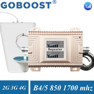 850/1700mhz Mobile Signal Booster Band5/4 Cellular Amplifier Voice Data Repeater