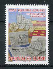 Monaco 2018 MNH Grande Bourse Fairs 1v Set Numismatics Cartography Stamps