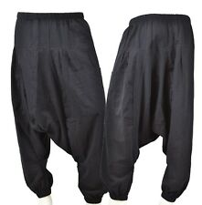 Harem Plain Nero Baggy Hip Hop ALADINO Hippy Pantaloni pantalone elastico estate unisex