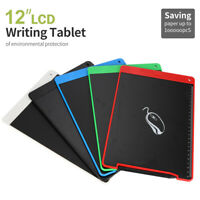 12'' LCD Writing Tablet Pad for Memo Board Style eWriter Boards Stylus Digital K