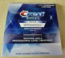 Crest 3D Whitestrips Professional Effects 40 Strips 20 Treatments 06/2020