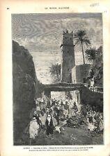 Algérie Insurrection Aurès Massacre Caïd si-Ismaïl ben Bachtarzi GRAVURE 1879