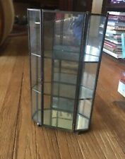 Glass Metal Wall Stand Up MINATURE Curio Cabinet Display Case