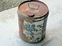 A Vintage Late 1970's Blue Golden Fleece 20 Litre Oil Drum