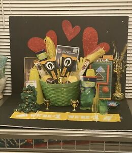 LG Men's NFL Football Green Bay Packers Fathers Day Gift Basket Set Candy Set