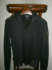 POLO JEANS Co. RALPH LAUREN Large Vtg. Military 1/4 Zip Sweater -FAST SHIP-