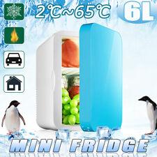 AUS 6L Car Home Dual Use Mini Fridge Travel Refrigerator Cooler Freezer