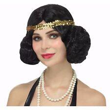 CHARLESTON Flapper Broadway Starlet Wig w/ Headband Halloween Costume Accessory