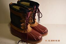 Eddie Bauer Leather,Rubber,Waterproof Winter Women's Boots,Size 7 M